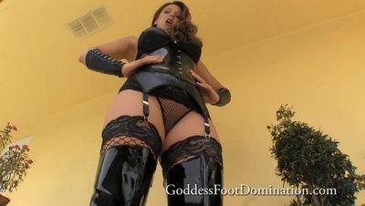 Goddess Foot Domination - Brianna's Boot Shiner Goddess Brianna