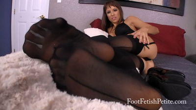 Foot Fetish Petite - Hot Stockings POV Alyssa Kayson