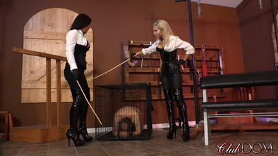 Clubdom - Venus & Kylie Caning in Dungeon