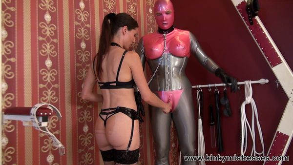 new 08.06.2015 Mistress Susi - Fun With The Rubberdoll and The Bisexual Slave part 1
