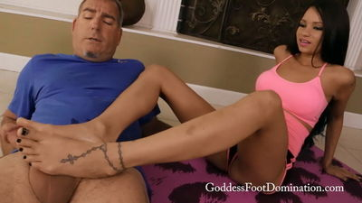 Goddess Foot Domination - Nanny's Yoga Training Goddess Raven Bay