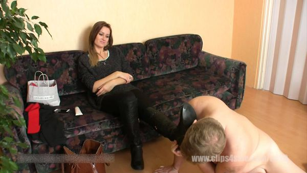 ElegantFemdom - Lady Demona - The Maid clean dirty street Boots
