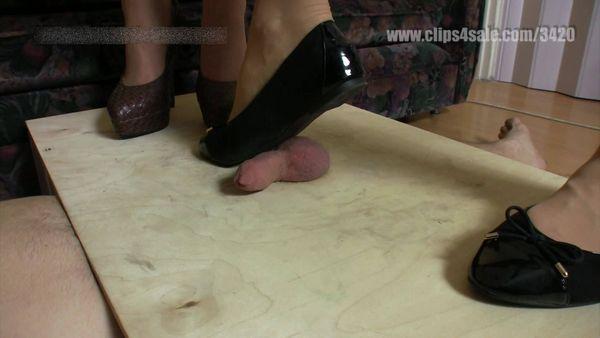 ElegantFemdom - Lady Jessica, Mistress Demona - Cruel sadistic trampling, kicking, stomping