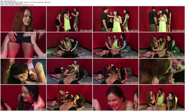 PureCFNM - Alessa Savage, Ella Hughes, Jessy - Hen Party Dare