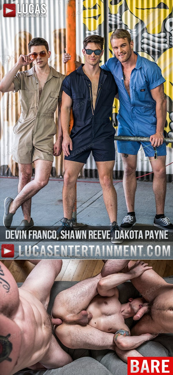 LucasEntertainment: Rompers and Raw Fucking (Devin Franco, Shawn Reeve, Dakota Payne) (Bareback)