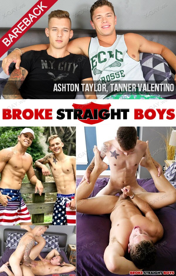 BrokeStraightBoys: All American Boys Ashton Taylor and Tanner Valentino Fucking RAW