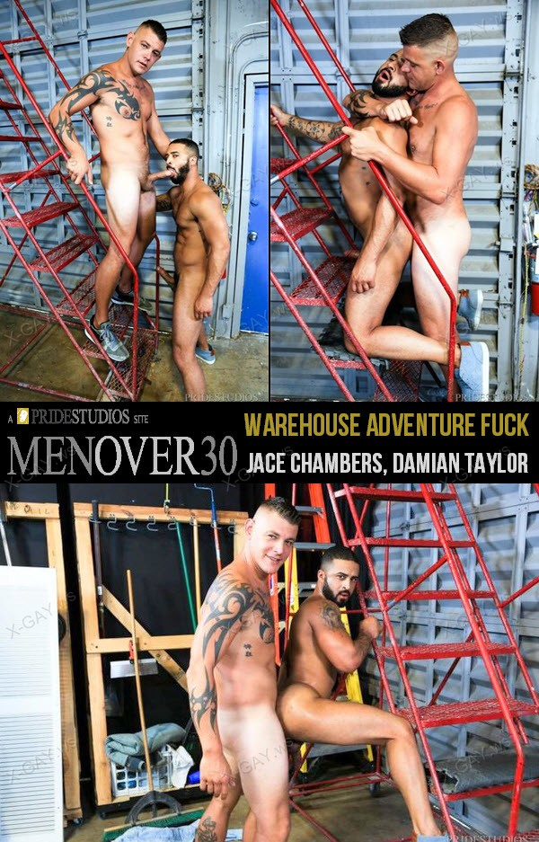 MenOver30: Warehouse Adventure Fuck (Jace Chambers, Damian Taylor)