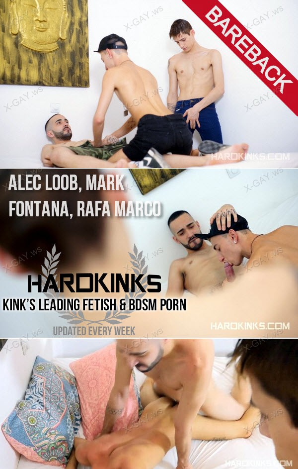 HardKinks: Cheating Twinks (Alec Loob, Mark Fontana, Rafa Marco) (Bareback)
