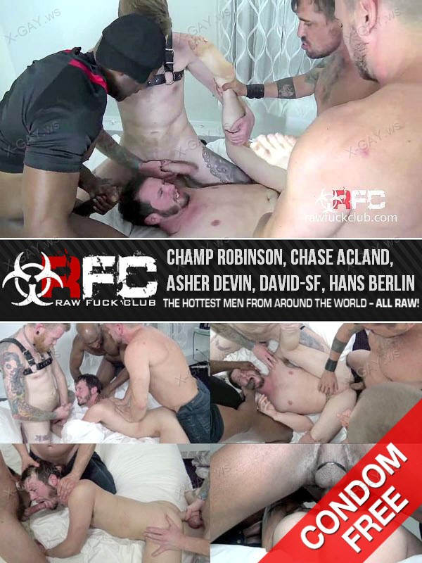 RawFuckClub: Fuck You Like an Animal (Champ Robinson, Chase Acland, Asher Devin, David-SF, Hans Berlin)