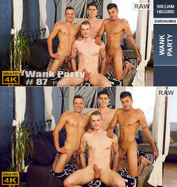 WilliamHiggins: Wank Party #87, Part 1 (RAW, WANK PARTY) [4K Ultra HD]