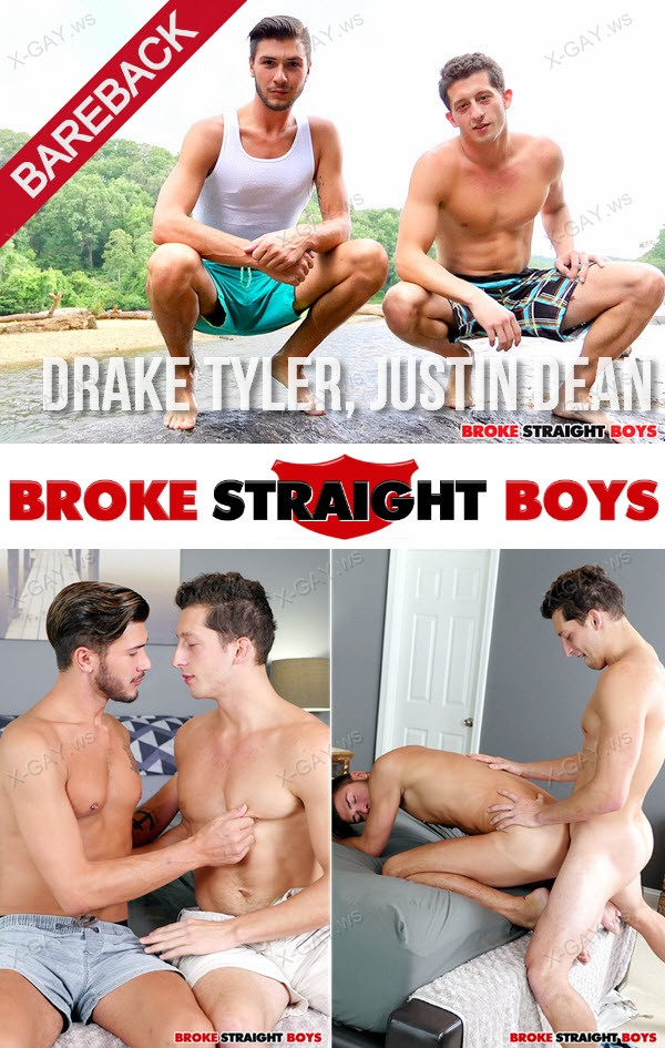 BrokeStraightBoys: Drake Tyler On Top And Bareback Fucks Justin Dean