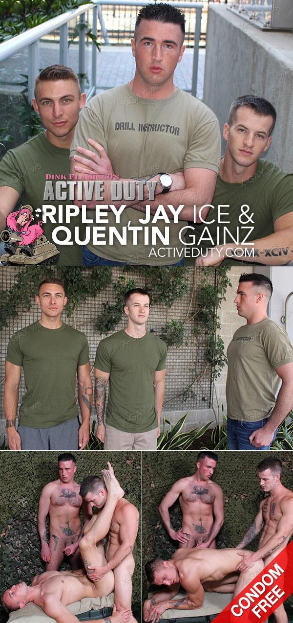 ActiveDuty: Ripley, Jay Ice, Quentin Gainz (Bareback)