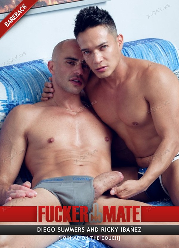 FuckerMate: Diego Summers, Ricky Ibanez (Join Me On The Couch) (Bareback)