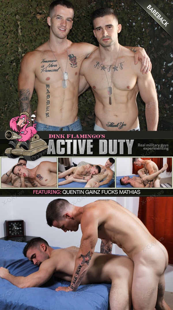 ActiveDuty: Mathias, Quentin Gainz (Bareback)