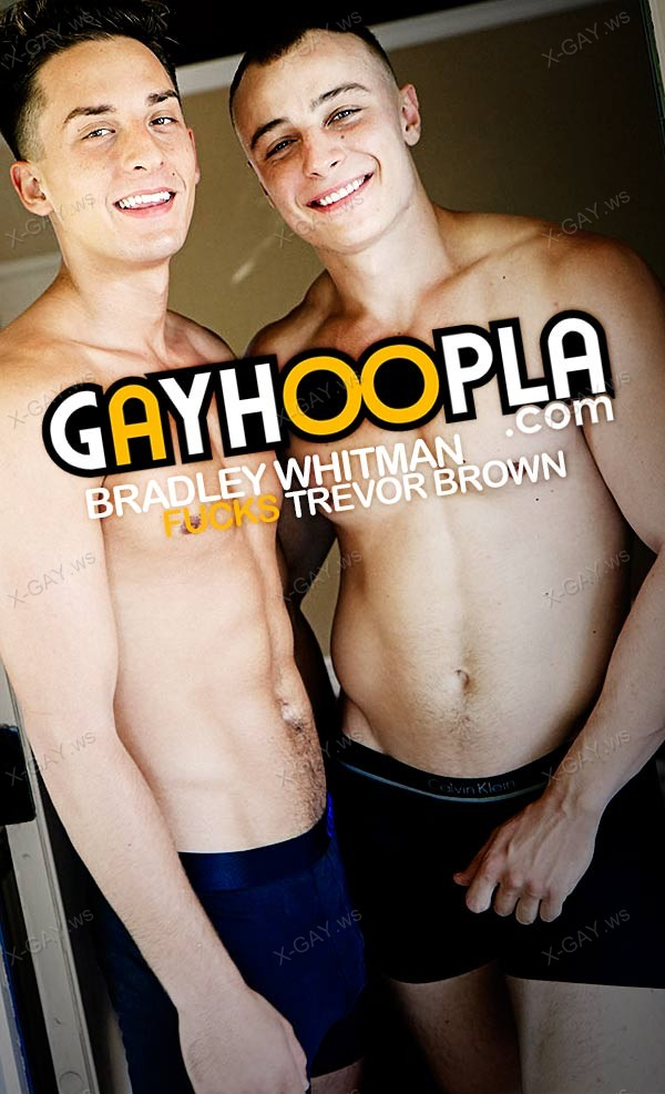 GayHoopla: Trevor Brown's Tight ASS Gets FUCKED By Bradley Whitman