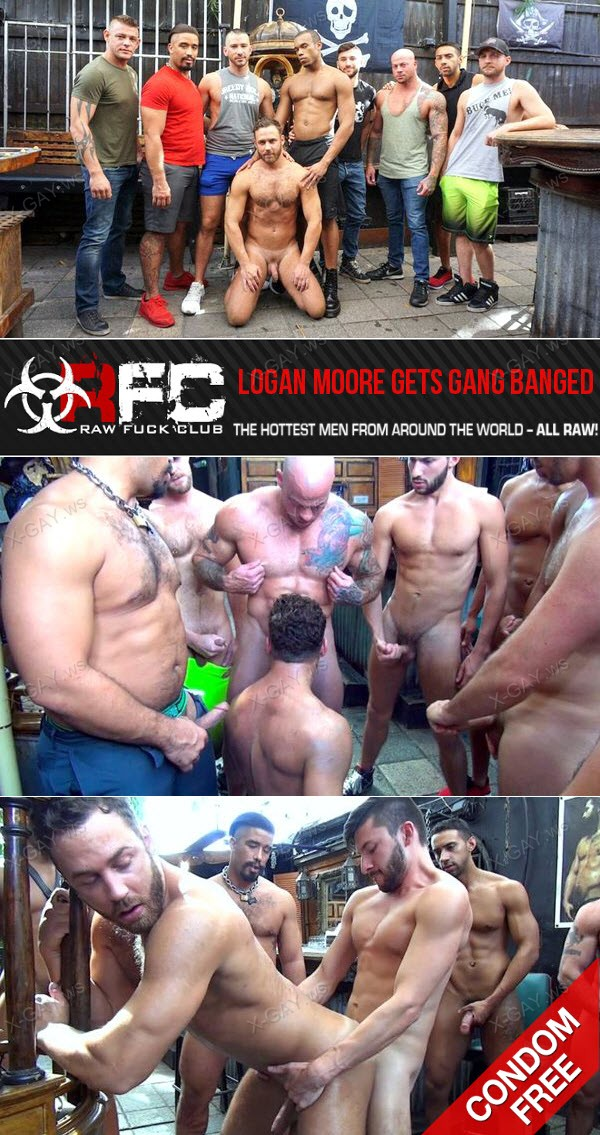 RawFuckClub: Logan Moore Gets Gang Banged