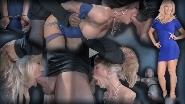 (01.07.2014) RB – Blonde MILF Simone Sonay worked over hard by 2 cocks, epic deepthroat on BBC, brutal fucking