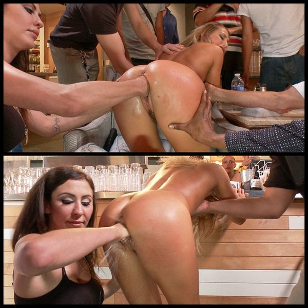 (15.08.2014) Tempting girl next door ass pounded in a pizza joint. Extreme Fisting