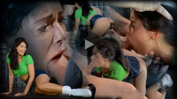 (01.09.2014) SB – English lass Ava Dalush tied doggystyle, blindfolded, vibrated & brutally deepthroated on hard cock