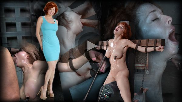 (15.09.2014) SB – Stunning busty MILF Veronica Avluv does brutal drooling deepthroat while crucified on a sybain