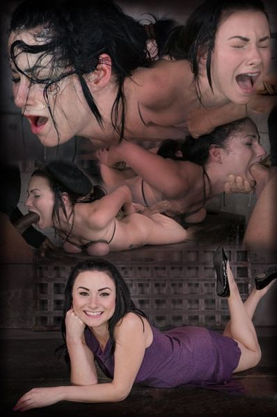 (04.11.2014) Sexy Veruca James restrained in tight hogtie, brutal breast bondage and epic messy deepthroat