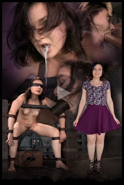 (26.11.2014) Cute little Amy Faye belted down onto sybian and does epic deepthroat until she is a drooling mess