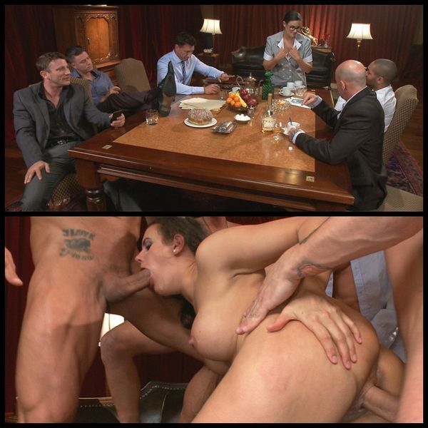 (07.01.2015) Horny Hired Help ajuda-se a 5 big cocks - Bdsm, Fetish, Hardcore, Dominação masculina, Rape Fantasy