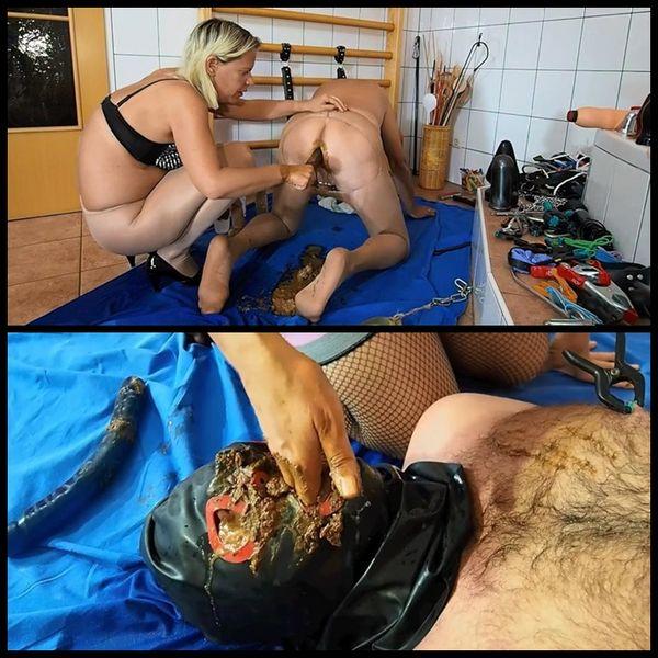 TOTAL VERSAUT – PERVERSER ORGASMUS – Femdom Scat, Shitting