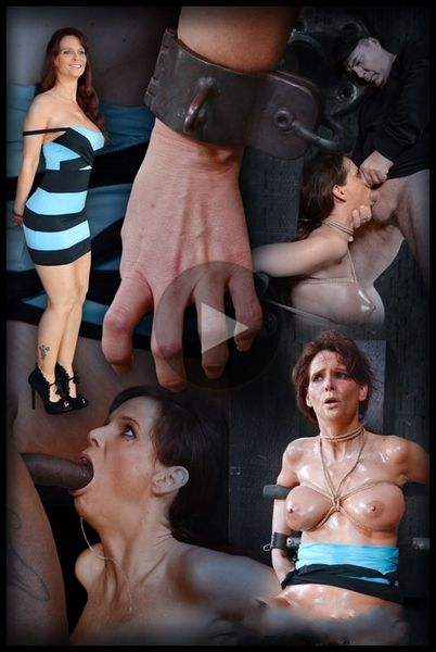 (03.02.2015) Sexy MILF Syren De Mer shackled down with epic brutal deepthroat on BBC, total destruction