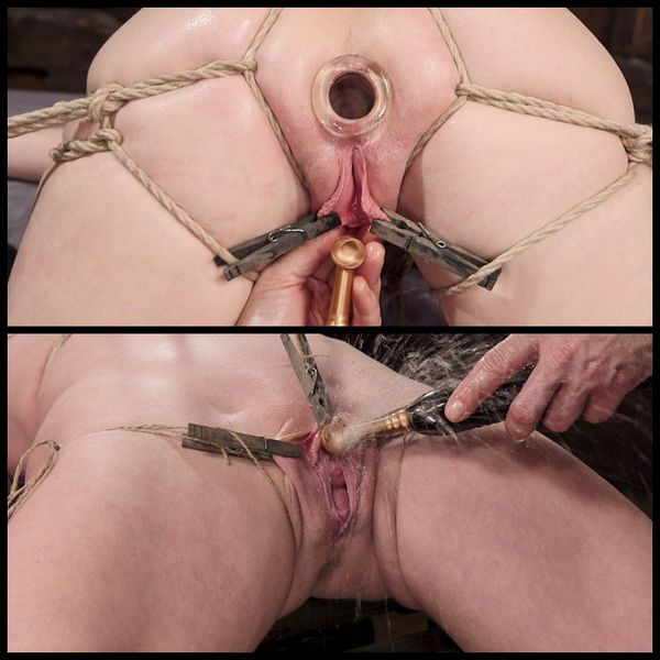 (05.02.2015) Athletic MILF bombshell tied tight and anally fucked –  BDSM, Bondage, Squirting