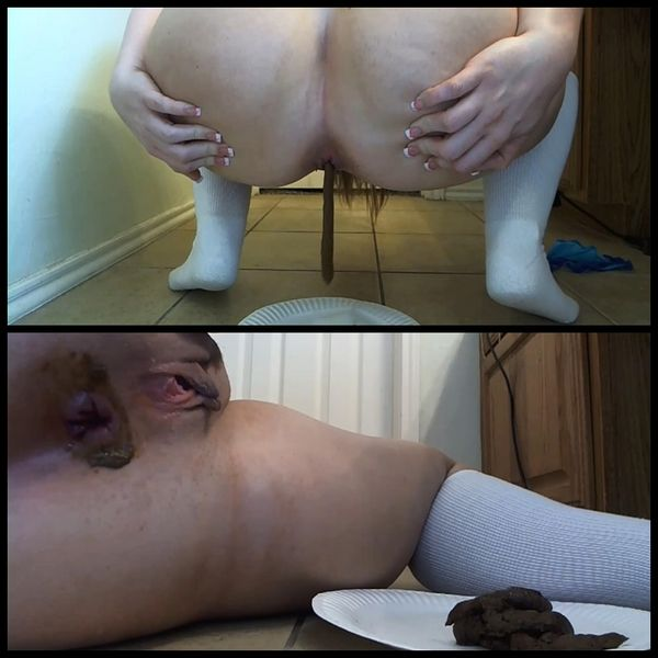 Anal Fuck Plate Shit – Solo Scat, Poopping