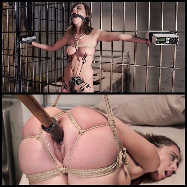 (19.02.2015) Young Slut in Tight Bondage with Grueling Torment
