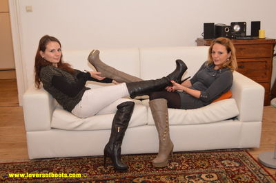 Lovers Of Boots - Jenny & Maria in Knee High Boots