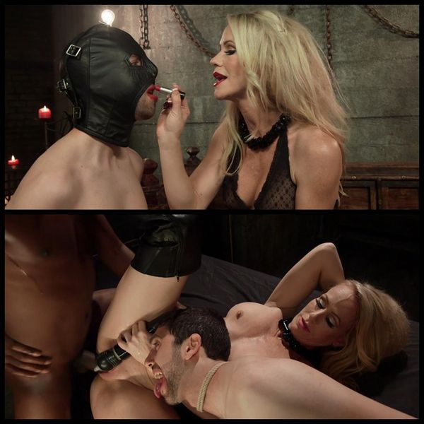 (04.03.2015) Simone Sonay devours big black alpha cock cuckolding her beta slave – Female Domination, BDSM