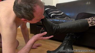 Kinky Mistresses - Goddess Cleo Worship My Boots