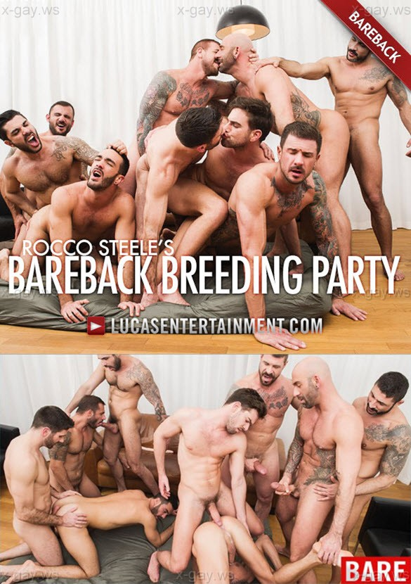 LucasEntertainment – Rocco Steele's Bareback Orgy, Part 2