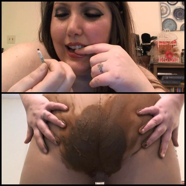 BBW Giantess Humiliation Pantyhose Poop – Solo Scat, Poopping, Shitting