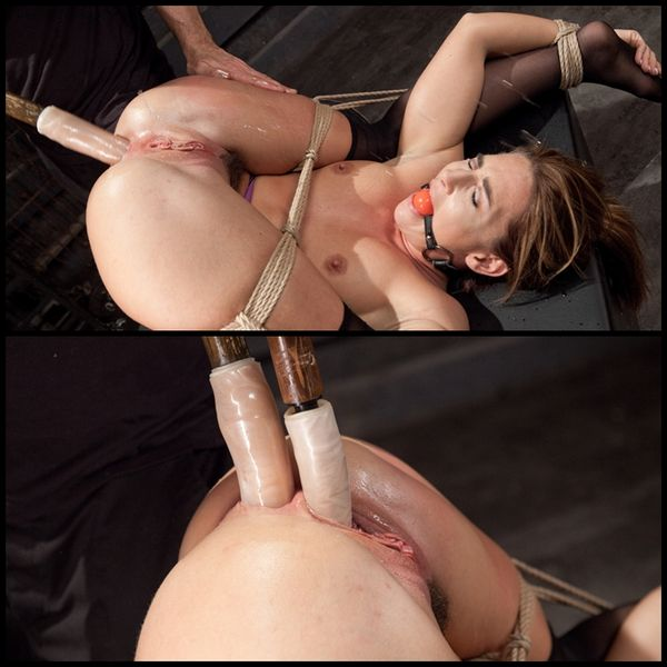 (22.05.2015) Squirting Double Penetration Bondage Slave Training, Savannah Fox