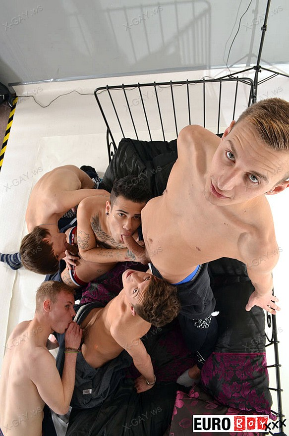 EuroBoyXXX: Onesie Direction 2, Scene 3 (The Orgy)