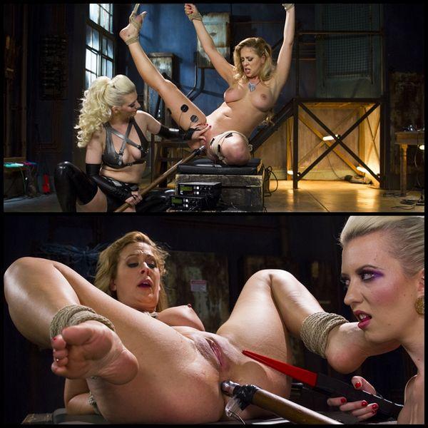 (25.06.2015) Cherry Torn vs. Cherie Deville: Latex Lesbian Electro Sex
