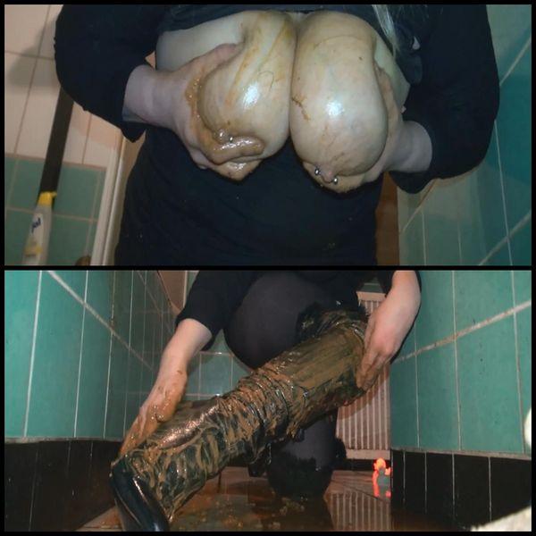 Shit the boots film KV – Enema – Boots Domina