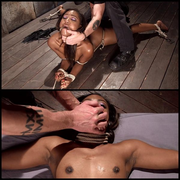 (02.07.2015) Hot Ebony Slut Suffer Through Grueling bondage and brutal Pussy Torment