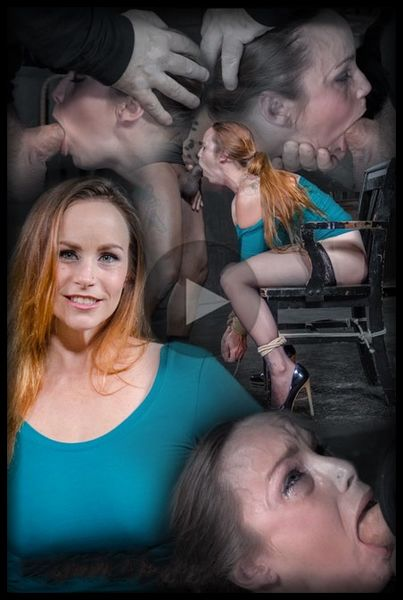(03.08.2015) Big breasted Bella Rossi is bound and brutal shackled rough sex deepthroat while vibrated