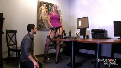 Femdom Empire - Strap-on Sexual Harassment Gigi Allens, Holly Heart