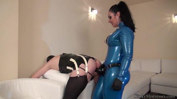 KinkyMistresses - Mistress Ezada Sinn - Take The Cock Of Your Rubber Mistress