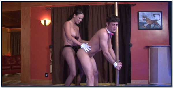 Chained To A Pole And Fucked Femdom