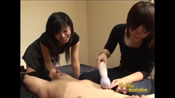 EroticFemaleDomination - Teen asian femdoms tickles tied up guy with a sex toy