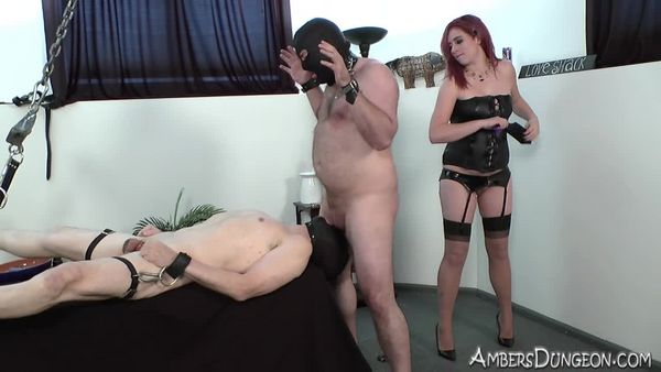 AmberDungeon - Mistress Natalie - Bound Bi Boys - Part 1 of 3