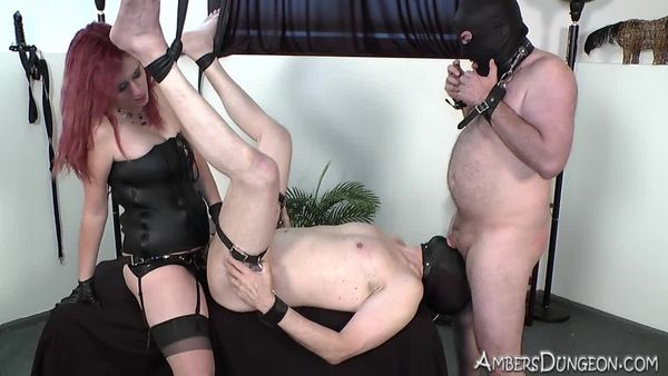AmberDungeon - Mistress Natalie - Bound Bi Boys - Part 2 of 3