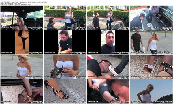 GlamBitches - Public place shoe worship for a bad boy